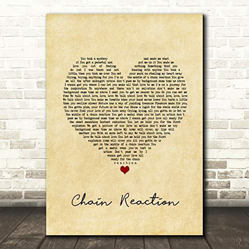Ketting Reactie Vintage Hart Song Lyrische Gift Present Poster Print Small A5