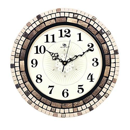 MX Horloge murale Art - Mosaic Craft - Horloge Murale Silencieuse/Pierre @