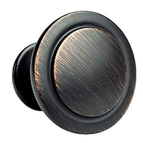 Oil Rubbed Bronze Kitchen Cabinet Knobs - 1 1/4 Inch Round Drawer Handles - 25 Pack of Kitchen Cabinet Hardware