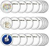 Chapas Ropa Personalizados FOGAWA 30pz Chapas Plásticas con Alfiler de 6cm Chapas Pin Transparentes de Acrílico para Actividades de Bricolaje para Niños y Creativas