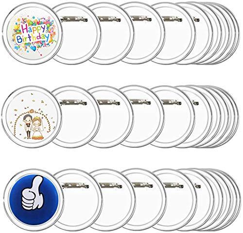 FOGAWA 30 pcs Buttons Selber Machen ohne Buttonmaschine JGA Buttons Kinder Buttons Anstecker 60mm Ansteckbuttons mit Sicherheitsnadel Button Pins für JGA Foto Bild Kleidung