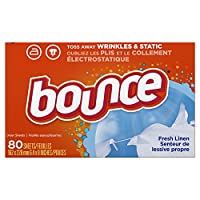 Bounce Fabric Softener Dryer Sheets Fresh Linen 80 count, (Pack of 3) by Bounce