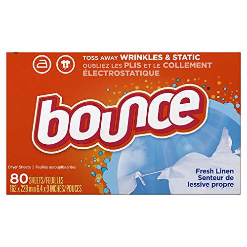 Bounce Fabric Softener Dryer Sheets, Fresh Linen, 80 Count (Pack of 3)