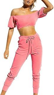 3034a3b74 Fancyinn Conjunto Deportivo Chandal Mujer Conjunto de Ropa Tops + Pantalones