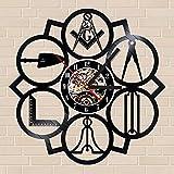 フリーメイソン 秘密結社 イルミナティ レコード盤 壁掛け時計 ウォールクロック ウォッチ 30cm 国内未発売