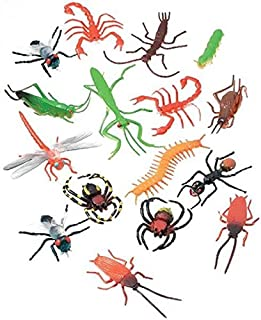 "Darice Plastic Insects (16 pc) – 2"" Long Plastic Bugs and Arachnids – Great for Playtime, Party Décor, Cupcake Toppers, Sensory Bins – Use in The Bath or Sandbox - Kids Love These Colorful Insects"