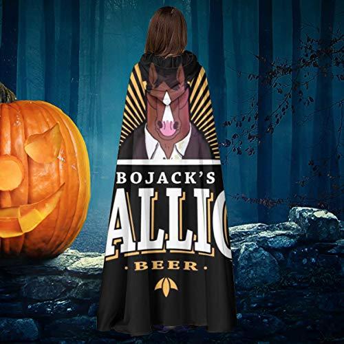 NULLYTG Bojack Horseman Stallion Beer Unisex Navidad Halloween Bruja Caballero con Capucha Albornoz Vampiros Capa Capa Cosplay Disfraz