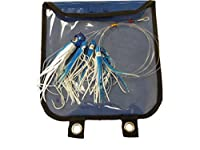 EatMyTackle Squid Pusher Daisy Chain | Saltwater Fishing Teaser (Blue/White)