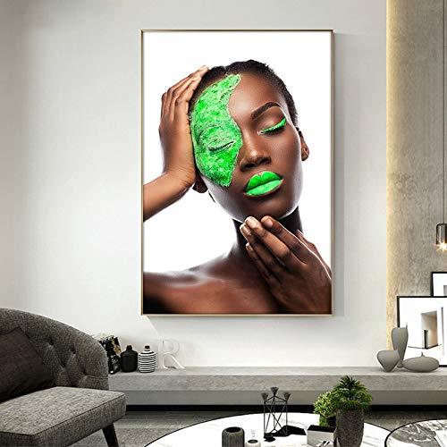 Puzzle 1000 Piezas Negro, Verde, Desnudo, Arte Africano, Mujer Puzzle 1000 Piezas Gran Ocio vacacional, Juegos interactivos familiares50x75cm(20x30inch)