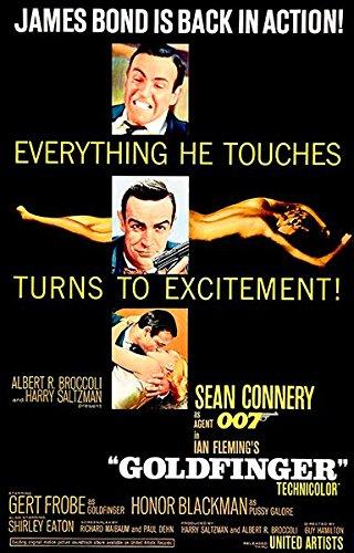 Goldfinger - James Bond - 1964 - Movie Poster