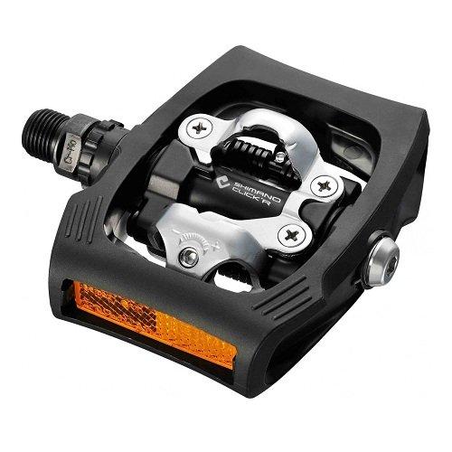 SHIMANO Pedales PDT400LR - Pedales T400 Negro C/r Click R