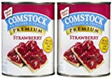 Comstock Premium Fruit Strawberry Pie Filling and Topping Net Wt 21 ounce x 2 Pack of 2