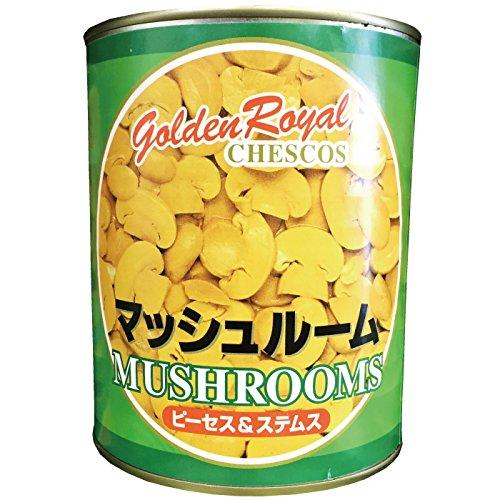 Golden Royal マッシュルーム(ピーセス・ステムス)2号缶 454g(固形量)