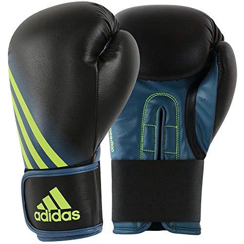 adidas Erwachsene Boxhandschuhe Speed 100, Black Yellow, 10 oz, ADISBG100, schwarz/Solar gelb