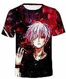 Tokyo Ghoul Kaneki - Camiseta de manga corta para hombre, diseño de Fasion de verano para mujer con los ojos vendados Ghoul Touka Kirishima manga corta para adultos y adolescentes, Tgk20, 54