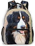 Zaino da Viaggio Casual per Cani da Montagna Leggero Sennen Bernese Animale da Viaggio per Donna e Regalo per Adolescenti
