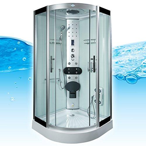 AcquaVapore DTP8058-5002 Dusche Dampfdusche Duschtempel Duschkabine 90×90 XL, EasyClean Versiegelung der Scheiben:2K Scheiben Versiegelung +89.-EUR - 3