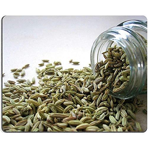 QDAS muismat venkel-zaden kruidenoverloopglas-natuurlijk rubber-materiaal afbeelding