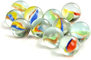 50-Sets Glass Marbles Bulk Assorted Colors 48 Players 2 Shooters Kids FUN Games