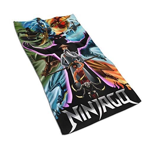 Hdadwy Ninjago Toalla de Anime Toalla de Mano Baño SPA Fitness Toalla Deportiva Unisex 27.5 X15.7in