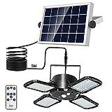 Annbrist Solarlampen für Außen, 128 LED Solarleuchten Aussen mit Bewegungsmelder, 1000 lm 4 Modus IP65 Wasserdichte, 120°Beleuchtungswinkel, Solar Wandleuchte für Garten Balkon Garage Zaun