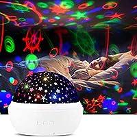 Star projector オーシャンウェーブプロジェクターナイトライト、ベビーギャラクシープロジェクターランプ、2イン - 1調整可能な星LEDナイトライト、360°回転赤ちゃんプロジェクターライト、男の子、女の子のための最高の贈り物 (Color : White)