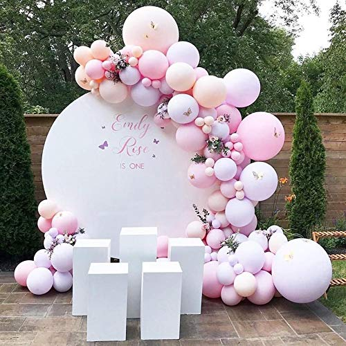 Pastel Pink Balloon Garland Arch Kit-Orange Macaron Balloons Peach Pink Macaron Balloons 134Pcs for Birthday of The Princess,Christmas Wedding,Engagement,Graduation and Picnic Party Decorations.