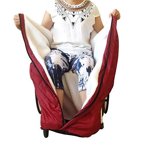 ESGT Plüsch Rollstuhlsack Rollstuhl Fußsack Warm Schlupfsack für ältere Menschen, Patienten, Behinderte Erwachsene