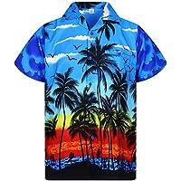 V.H.O. Funky Camisa Hawaiana, Beach, Azul, 4XL