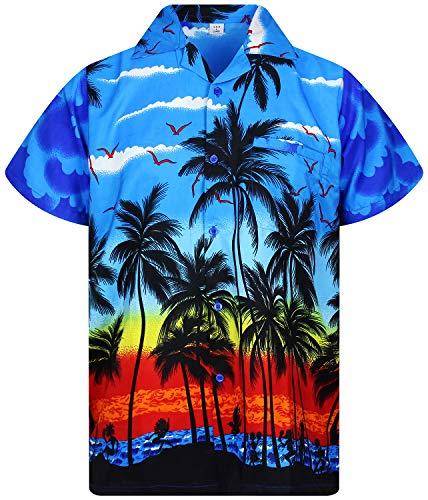 V.H.O. Funky Camisa Hawaiana, Beach, Azul, S