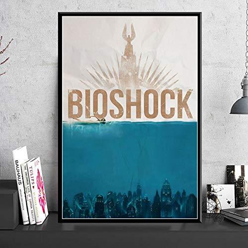 ganlanshu Spielplakate und Drucke Leinwand Bild Wand Wohnzimmer Dekoration Kunst Hauptdekoration,Rahmenlose Malerei-50X75cm