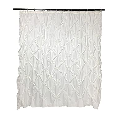 VCNY Home Floral Burst Shower Curtain, 72x72, White