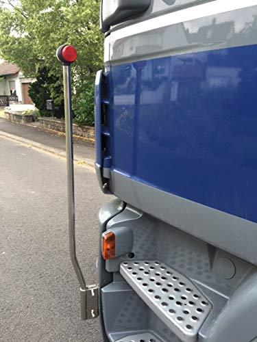 Edelstahl LKW Begrenzungsstab 110 cm mit LED-Leuchte Truck Peilstab Peilstäbe Begrenzungsleuchten Begrenzungstäbe~