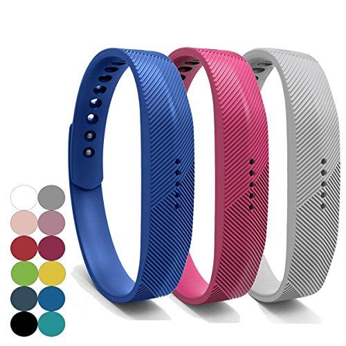YEFOD 3pcs/Set Fitbit Flex 2 Armband, Weiche Silikon Ersatzarmband für Fitbit Flex 2, Kleine Größe, Armbandlänge: 5.5 - 6.7 Zoll