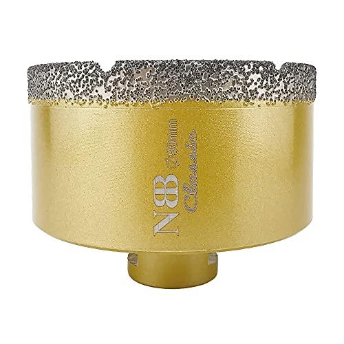NBB Broca de diamante con M14, corona diamante para taladrar en seco y en húmedo profesionalmente en porcelana dura, cerámica, baldosas, granito, mármol, azulejo, para Amoladora Angular (1, 90mm)