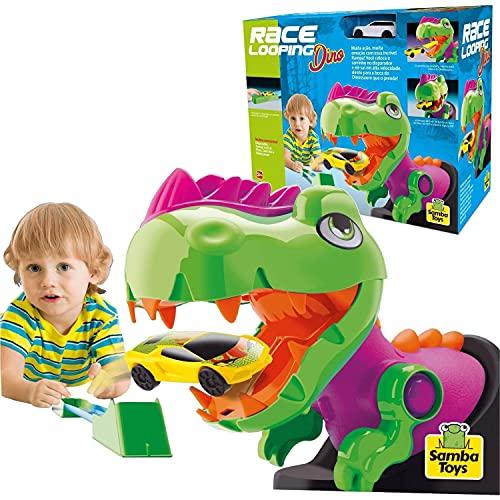 Pista Race Looping Dino Com Carrinho - Samba Toys