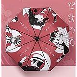 鬼滅の刃 傘 折りたたみ傘 日傘 収納ポーチ付き 耐風撥水 晴雨兼用 通学通勤用 携帯やすい アニメ傘 大人用 学生用 プレゼント
