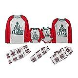Alueeu Pijamas de Navidad Familia Conjunto Top+Pantalones Suave y Cómodo Ropa de Dormir Manga Larga Homewear Pijamas Navidenos Amigas riou