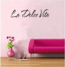 Alasijia la Dolce vita Italian Quotes Wall Stickers Kids Room Bedroom Living Room Home Decor 3D Vinyl Removeable Posters Wall Decal