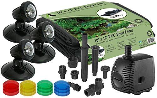Algreen 91857 600 Gallon Pond Kit with Lighting