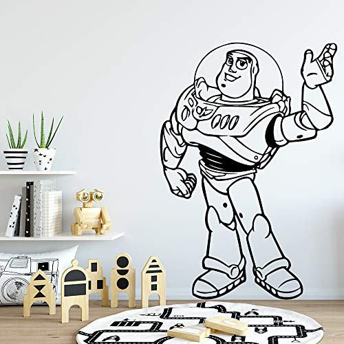 wZUN Subtile Astronauten Wandaufkleber Tapete Wohnkultur Wohnzimmer Schlafzimmer Wandaufkleber Wohnkultur 68X98cm
