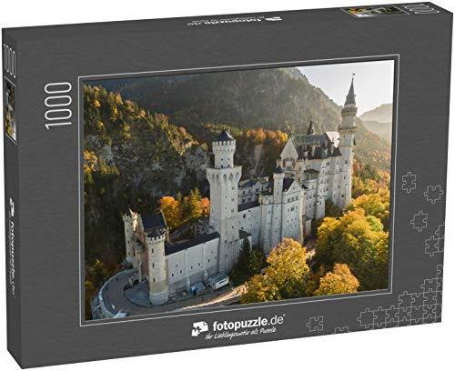 Puzzle 1000 Teile Luftbild Schloss Neuschwanstein in Schwangau, Deutschland - Klassische Puzzle, 1000 / 200 / 2000 Teile, edle Motiv-Schachtel, Fotopuzzle-Kollektion 'Deutschland 2'