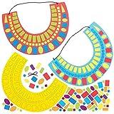 Baker Ross Kit de Mosaico de Collar Egipcio Antiguo AT852 (paquete de 4) para proyectos de arte y manualidades para niños, lecciones de historia y disfraces, surtidos
