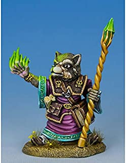 Raccoon Mage With Staff Miniature Critter Kingdoms Dark Sword Miniatures