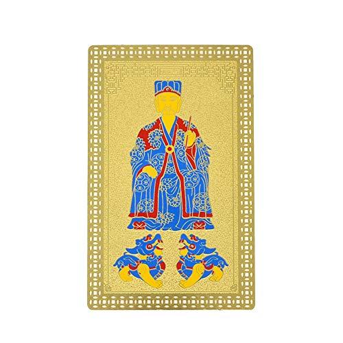 juanxian Tai Sui - Biglietto di auguri dorato, 2021 W4278