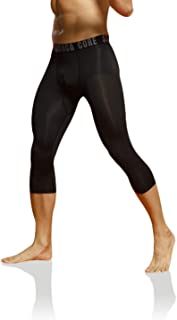 saraca core Men Youth Compression 3/4 Pants Sports Tight Baselayer Running Leggings Shorts Cool Dry