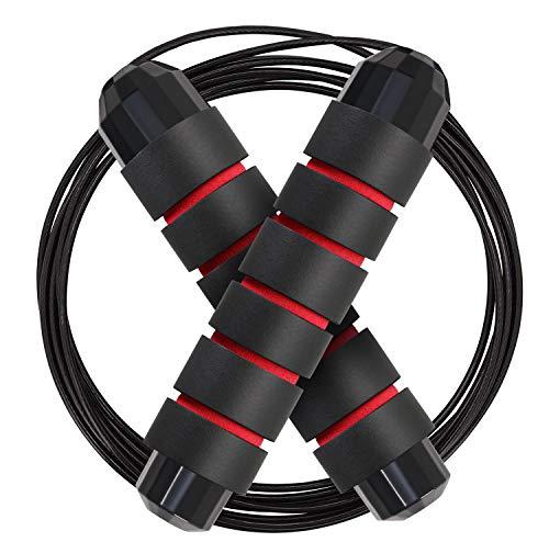 flintronic Cuerda para Saltar Velocidad Cuerda de Salto, Ajustable 3m, Comba de Crossfit de Asa Antideslizante, Comba para BoxeoCrossfit, Ejercicio para Niños, Adultos, Ideal for Fitness,Double Unders