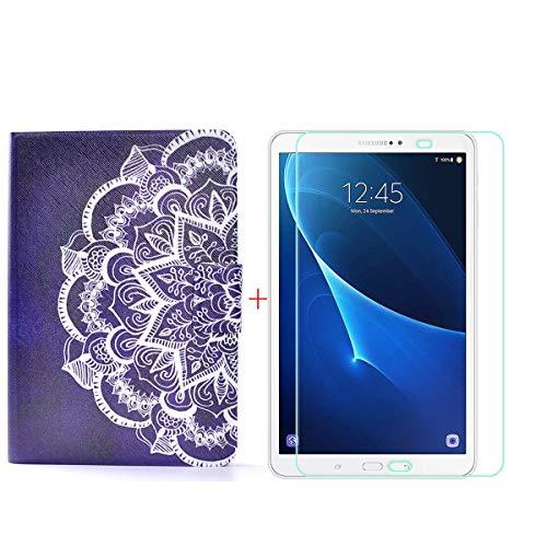 szjckj Protector de Pantalla + PU Carcasa para Samsung Galaxy Tab A6 SM-T280 (7,0') Tablet, Funda Protectora con Función de Soporte - HD Cristal Vidrio Templado Protector - LW85