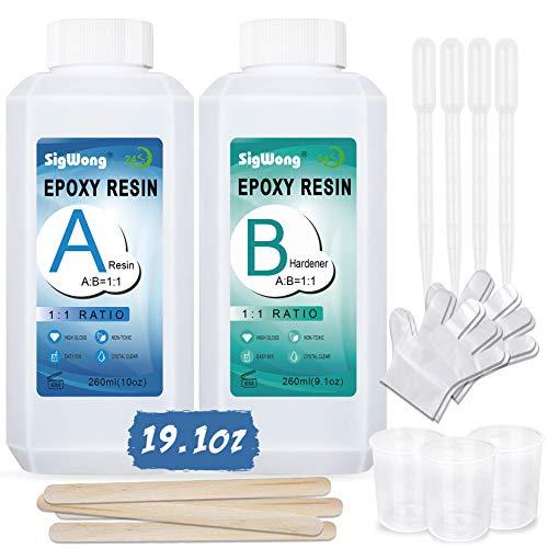 Epoxy Resin Clear Crystal Coating Kit 19.1oz - 2 Part...