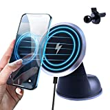 Wireless Car Charger, Penbea Magnetic Car Phone Charger Air Vent Dashboard, 15W Fast Charging Car Phone Holder, Compatible with iPhone 12 Pro Max/12 pro/12/11 Series, iPhone & Android, Black
